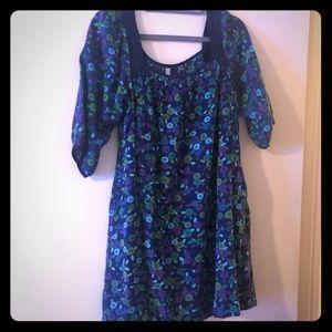 Old navy size medium blue babydoll dress